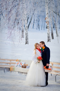 Волшебство зимней свадьбы в Кривцово: счастливая сказка, воплотившаяся наяву