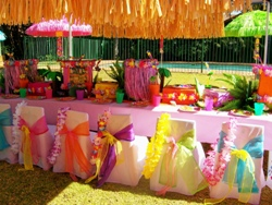Тематический банкет на природе: гавайская вечеринка