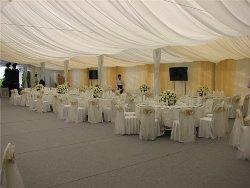 Коттедж на свадьбу с шатром: в лучших европейских традициях